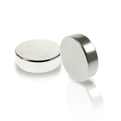 Round Disc Magnet Neodymium (Rare Earth), Nickel - Super Strong Circle Magnets (NdFeB)