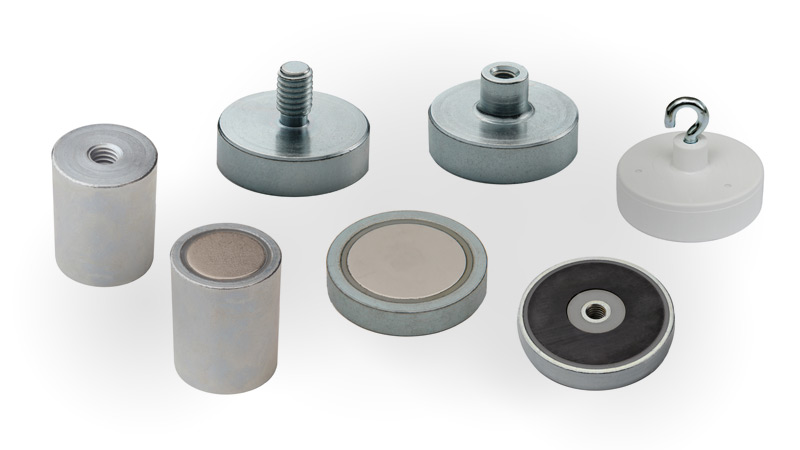 Neodymium pot magnets / Mounting Magnets / Clamping Magnets