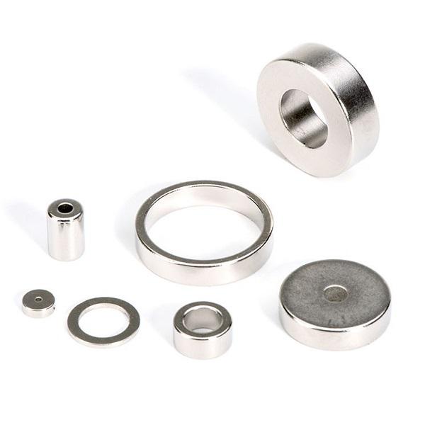 hält 10 kg Ringmagnet // Magnetring Ø 40//23 x  6 mm Nickel Neodym N42