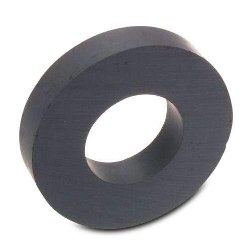 Ring Magnet Ø 140 x 63 x 17 mm Ceramic Ferrite Y30 - holds 19 kg - Magnetic Rings, Hard Ferrite Magnets