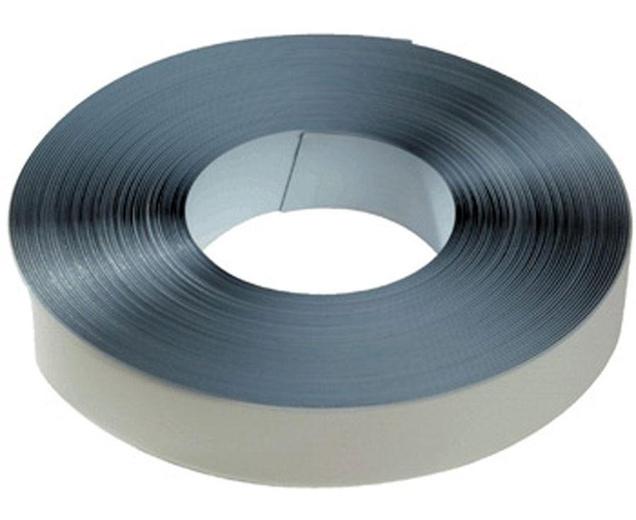 Ferroband Eisenband selbstklebend weiß matt, Rolle 0,6mm x 20mm x 10m - flexible