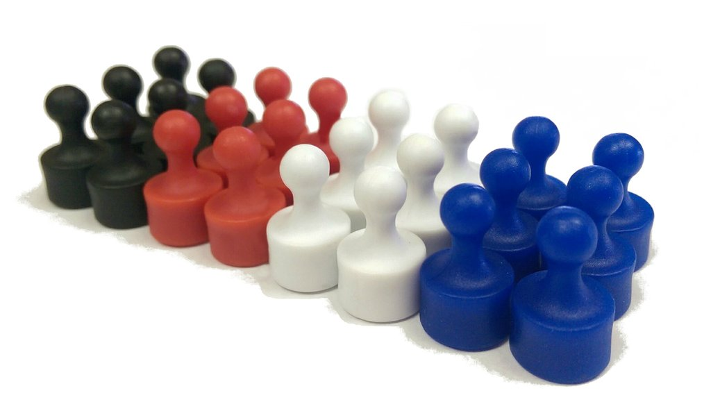 Plastic Pawn Magnets, Pin Magnets, Whiteboard magnets, Super Strong Skittle Magnets