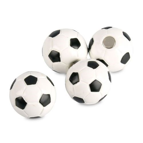 Memo magnets soccerball | Soccer Ball Magnets set with 4 pcs