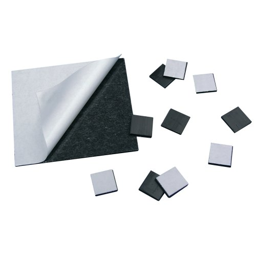 Self Adhesive Magnetic Dots 0,9mm x 20mm x 20mm, 150 pieces, pull 80 g/cm²