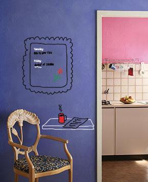 Whiteboard Farbe / Tafelfarbe beschreibbar bemalbar abwischbar, transparent - 1