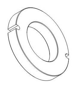 Ringmagnet / Magnetring Ferrit Y30 mit Doppelnut - 1