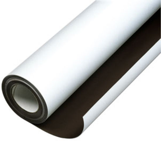 Matte White Vinyl Magnetic Sheet 0,3mm x 1m x 1m - Flexible Magnets