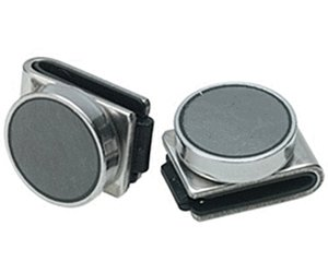 2 x Magnethalter 3 cm x 2,5 cm 2er-Set silber Edelstahl