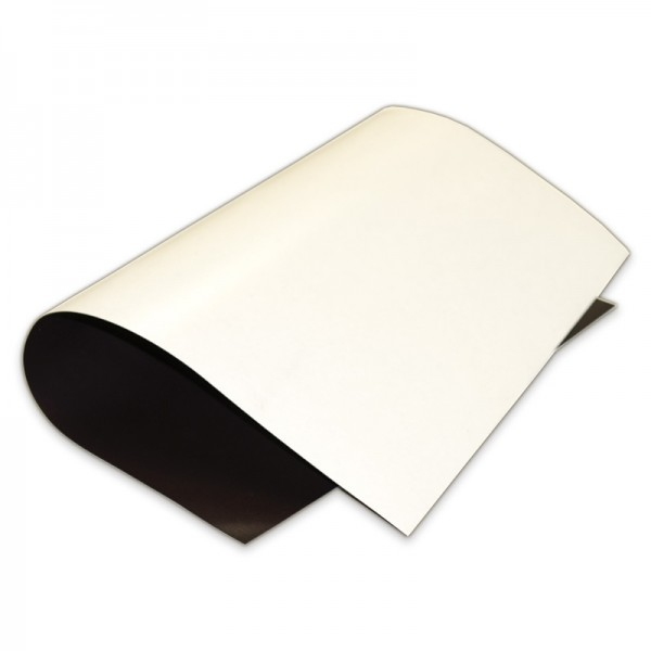 Matte White Vinyl Magnet Sheet, White Magnetic Sheet, Flexible vinyl magnetic sheeting, magnetic sheeting by the roll, Magnetic Sheets for labeling, Magnetic sheet with white vinyl (gloss/matt), magnetic sheets and rolls with indoor and outdoor use