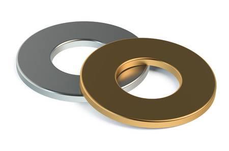 Rondella Rosette piastrine rosette-guarnizioni in acciaio, rame, alluminio