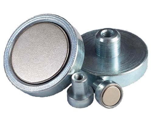 Neodymium Pot Magnets with internal threaded bushing