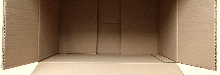 Empty shipping box