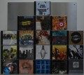Edelstahl CD-Wandregal magnetisch | Square 5x5 - 25 | 60 cm x 60 cm | 3,8kg