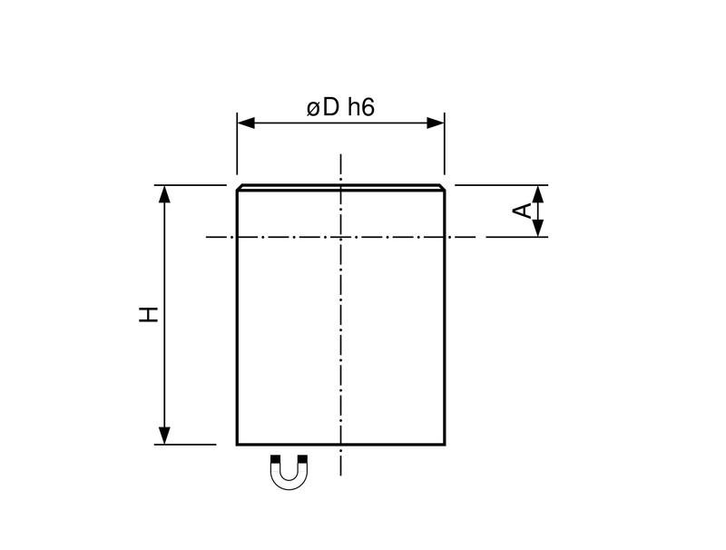 Stabgreifer | Haltemagnet aus Neodym (NdFeB), Passungstoleranz h6, Ø 6mm - 32mm - 1