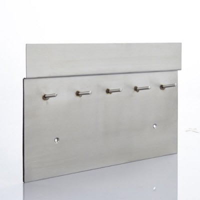 magnet schl ssel brett aus edelstahl mit filzbezug 30 cm x 20 cm magnete f r den wohnbereich. Black Bedroom Furniture Sets. Home Design Ideas