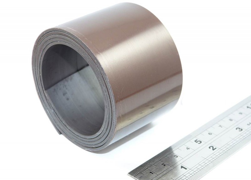 Self-Adhesive Magnetic Strip/Tape with premium adhesive - Polarity B anisotropic - 1,5mm x 25,4mm x 5m