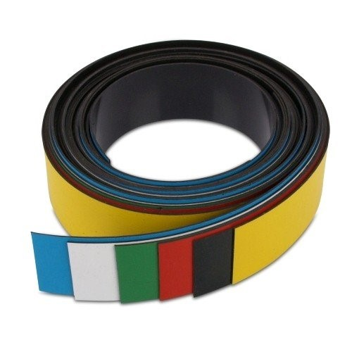 Coloured Dry Erase Magnetic Tape/Strips 15' (5 Meter) Roll